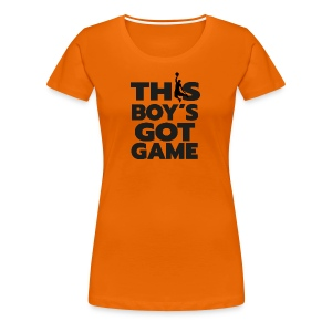 BASKETBAL boy's got game - Vrouwen Premium T-shirt