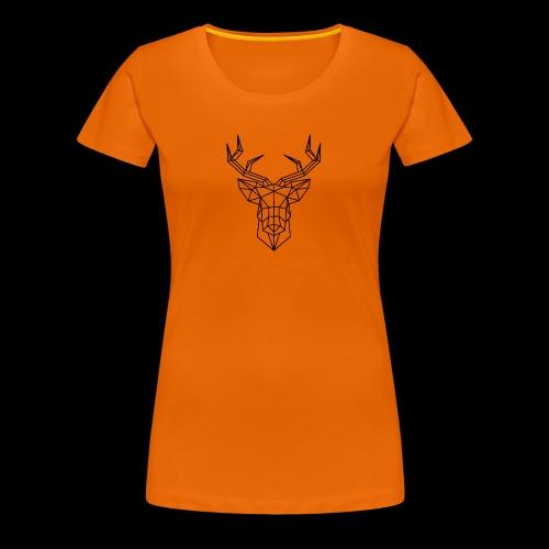 sticker tete de cerf en origami jpg - T-shirt Premium Femme