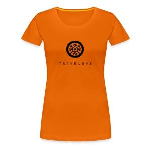 TraveLove schwarzer Aufdruck - Frauen Premium T-Shirt