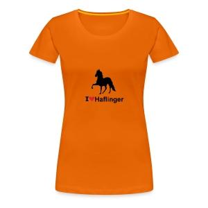 I Love Haflinger - Frauen Premium T-Shirt