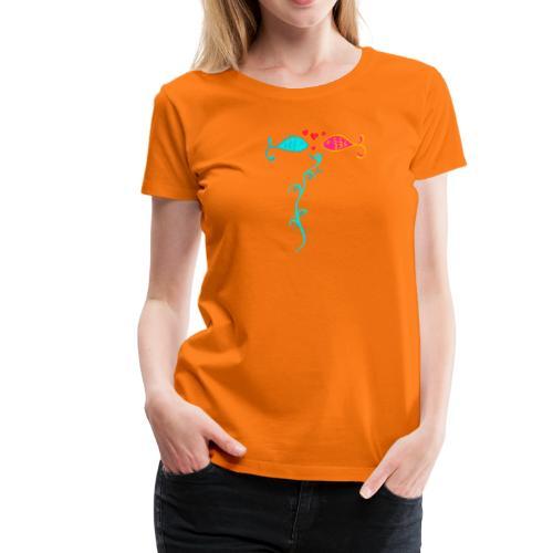 Verliebte Fische - Frauen Premium T-Shirt