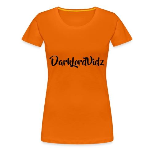 DarklordVidz Black Logo - Women's Premium T-Shirt