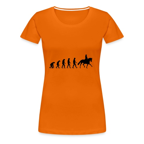 Evolution Of A Dressage Rider - Women's Premium T-Shirt