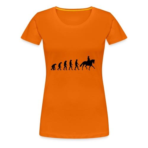 Evolution Of A Dressage Rider - Women's Premium T-Shirt