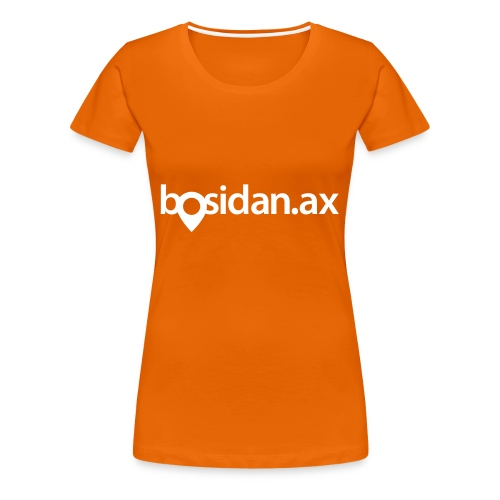 Bosidan.ax officiella logotypen - Premium-T-shirt dam