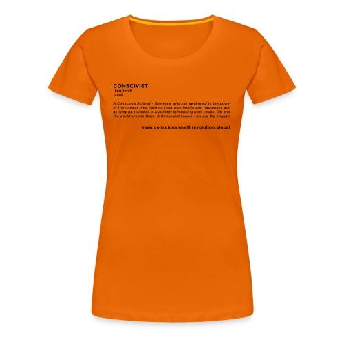 Conscivist Definition - Women's Premium T-Shirt