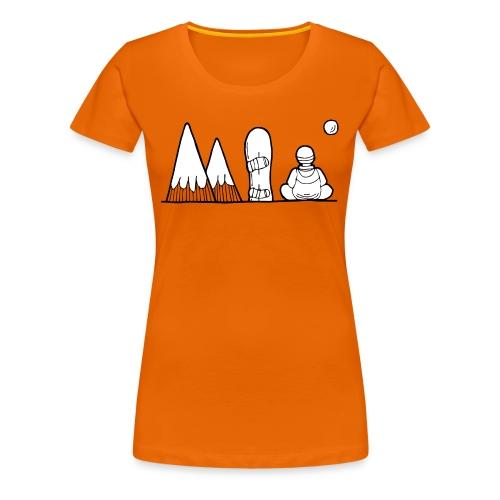 snowboard et montagnes - T-shirt Premium Femme