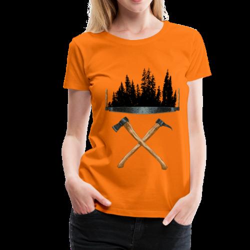 Werkzeuge der alten Forstwirte - Frauen Premium T-Shirt