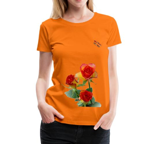 Rosen Shirt Randy Design - Frauen Premium T-Shirt