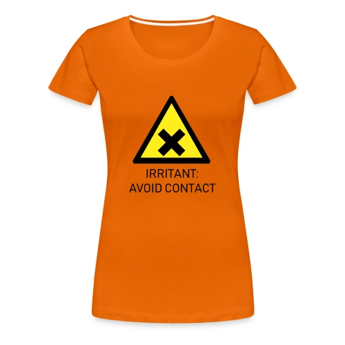 Irritant: Avoid Contact - Women's Premium T-Shirt