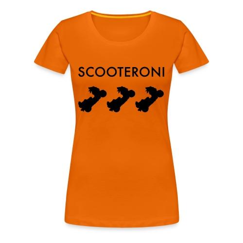 T-SHIRT SCOOTERONI BLACK - Maglietta Premium da donna
