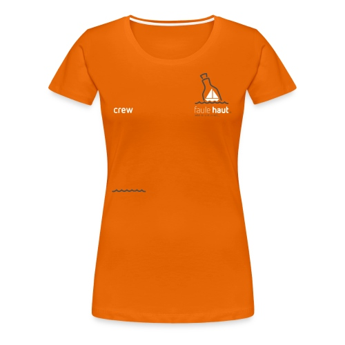 Logo ChestCrew weiss/dunkelgrau - Frauen Premium T-Shirt