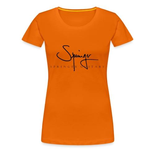 Logo Springer Guitars - T-shirt Premium Femme