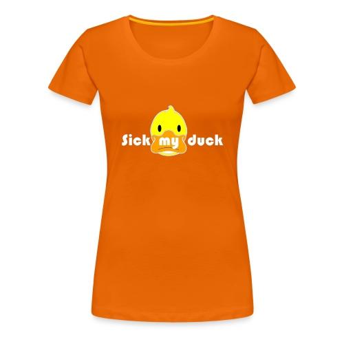 Mon crypto Caro duck sans fond COULEUR - T-shirt Premium Femme