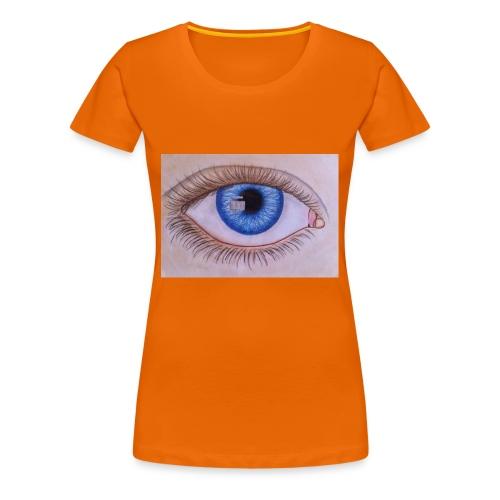 Blue eye - Frauen Premium T-Shirt