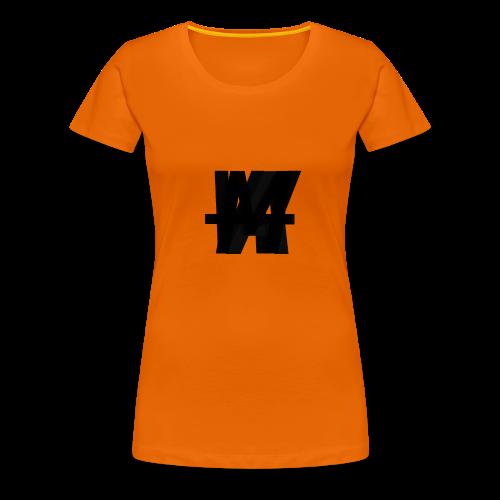 (Limited Edition) AWM Corner Logo Blackout - Women's Premium T-Shirt