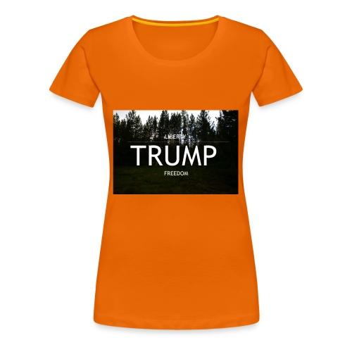 TRUMP, Freedom & Liberty - Women's Premium T-Shirt