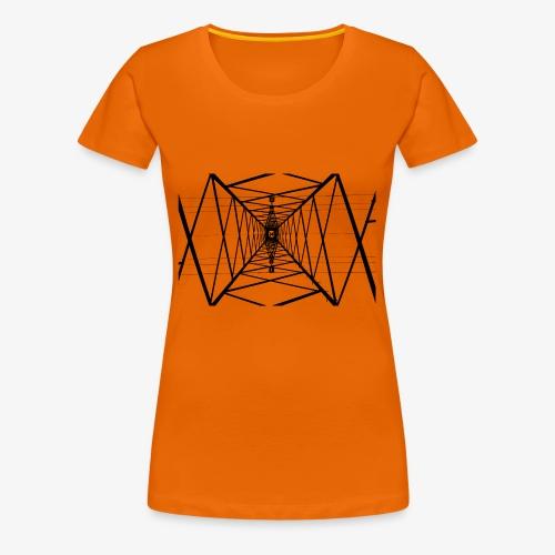 Quermast V2 Schwarz - Frauen Premium T-Shirt