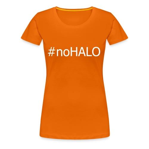 #noHALO white - Women's Premium T-Shirt