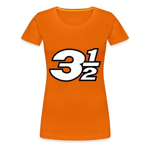 Three and a Half Logo - Women's Premium T-Shirt