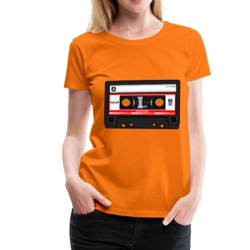 Compact Cassette Tape denola - Frauen Premium T-Shirt