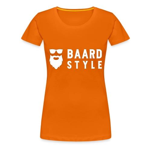 BaardStyle cap 1-white - Vrouwen Premium T-shirt