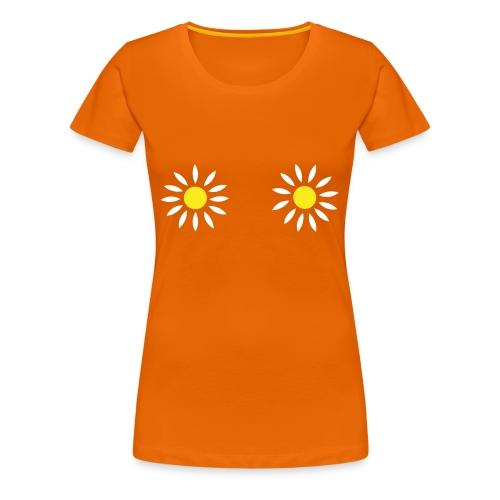 2 Bloemen Vrouwen Hemd - Vrouwen Premium T-shirt