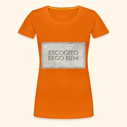 Excogitoergosum - Maglietta Premium da donna