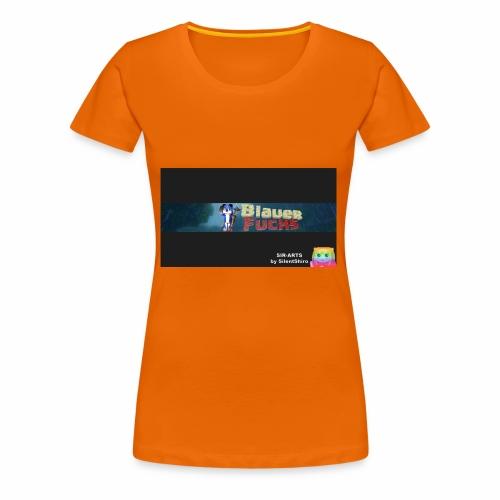 Minecraft Banner / BlauerFuchs - Frauen Premium T-Shirt