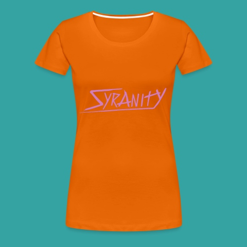 Syranity Black top Pink Pressing (Girl) - Women's Premium T-Shirt