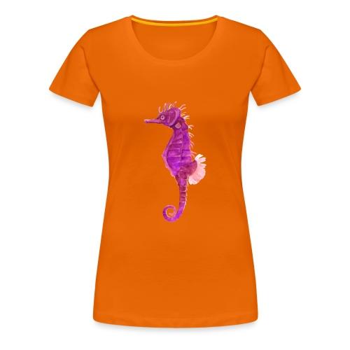 Pinkes Seepferd - Frauen Premium T-Shirt