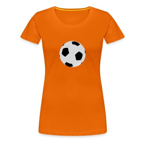 voetbal mok - Vrouwen Premium T-shirt