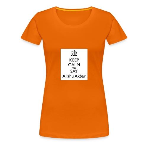 keep-calm-and-say-allahu-akbar - Frauen Premium T-Shirt