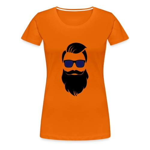 Hipster-Bart - Frauen Premium T-Shirt