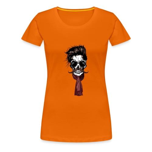 tete de mort hipster crane foulard echarpe skull m - T-shirt Premium Femme cb91b764783