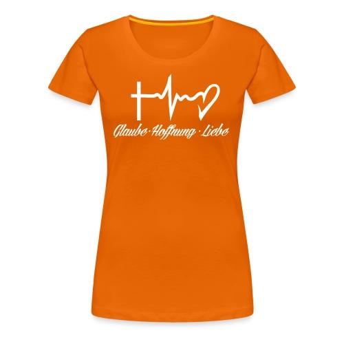 Glaube Hoffnung Liebe - Frauen Premium T-Shirt