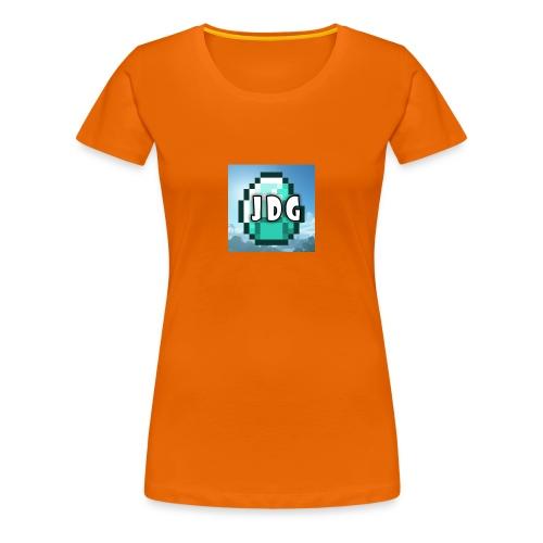 Oranje T-shirt met logo JoramDijkGames - Vrouwen Premium T-shirt