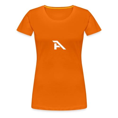 Aura Logo-(P. & White) - Maglietta Premium da donna