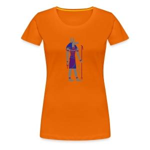 Der altägyptische Gott Anubis - Frauen Premium T-Shirt