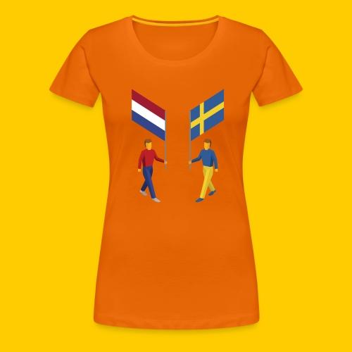 Walking with flags - Vrouwen Premium T-shirt