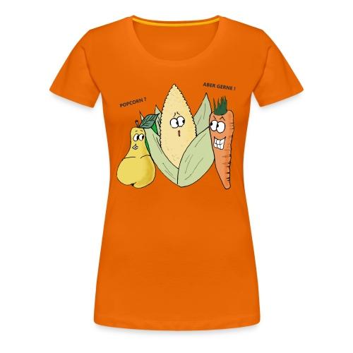 gemuese popcorn essen koch kochen moehre birne mai - Frauen Premium T-Shirt