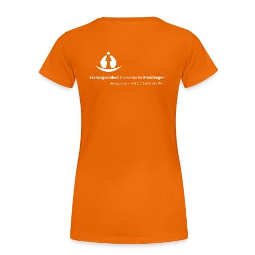 SDR LogoClaim l 1c weiss - Frauen Premium T-Shirt