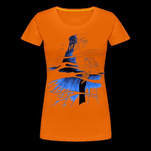 Ein Ort (blau) - Frauen Premium T-Shirt