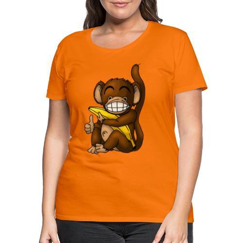 Super Fröhlicher Affe - Frauen Premium T-Shirt