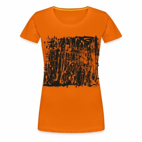 paintBlobBlack2 - Women's Premium T-Shirt
