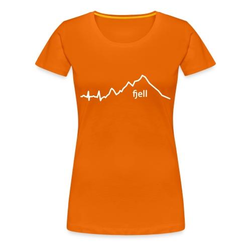 fjell - Premium T-skjorte for kvinner