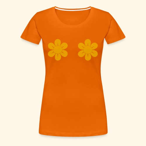 Retro Blomster - Dame premium T-shirt