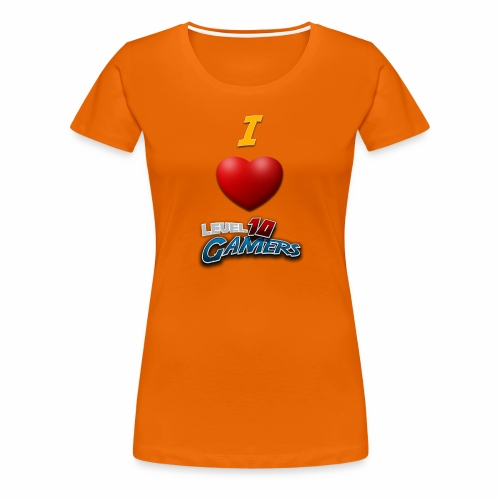 I love Level10Gamers - Premium T-skjorte for kvinner