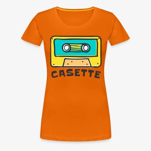 CINTA DE CASETTE - Camiseta premium mujer