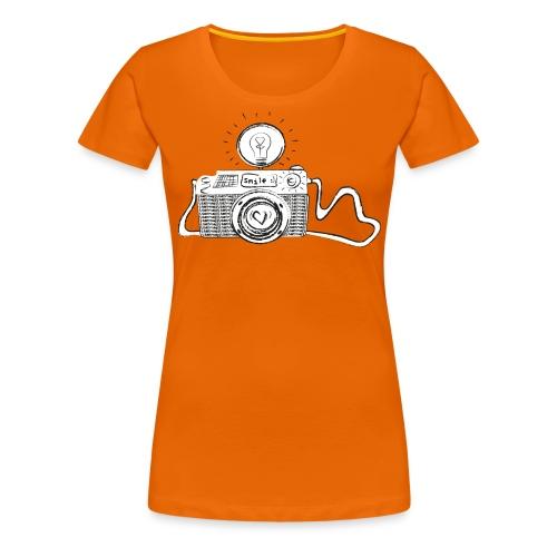S33 camera-smile - Frauen Premium T-Shirt